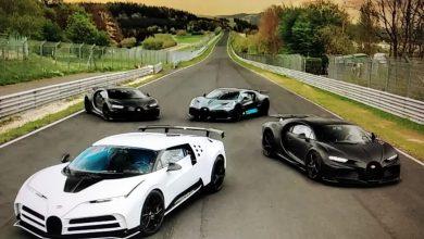 Photo of Četiri modela Bugatti okupila su se na Nirburgringu